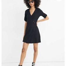 NWT Madewell Cross Front Button Dress Mini XS