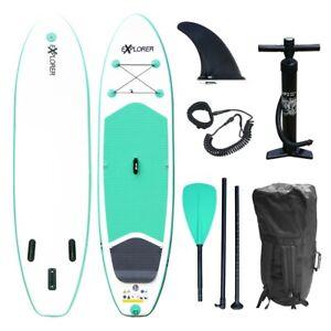 SUP EXPLORER Board Set Stand Up Paddle aufblasbar Surfboard Paddling ISUP 300