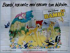 BAMBI Affiche Cinéma GEANTE 4x3 WIDE Movie Poster DISNEY