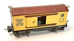 Vintage Lionel Lines Box Car Pre War Yellow Original Box 655