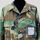 Vintage 90s Nirvana Patch Camo Jacket US Military BDU Woodland Camouflage