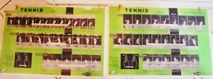 RARE VINTAGE,1961,DUNLOP LEW HOAD TENNIS INSTRUCTIONAL CHARTS APPROVED BY L.T.A.