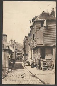 Postcard Folkestone Kent the Fishermen's Huts by Levy LL 62 posted 1911