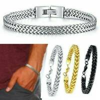 Men's Stainless Steel Keel Chain Link Bracelet Wristband Bangle Jewelry Simple