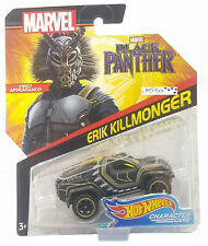 New 2017 Hot Wheels Marvel Black Panther Erik Killmonger Character Car