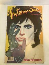 Vintage 1985 Nick Rhodes cover of Interview magazine Andy Warhol Duran Duran