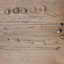 925 Job Lot Silver Necklace Rings Bracelets quality items