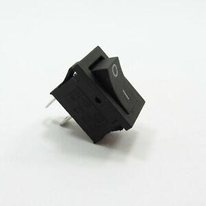 ON/OFF Rocker 2 Pin Switch 250V 6A Button SPST Black