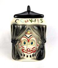 Rare Vintage American Bisque Clown Flasher Cookie Jar aka Pan Eye Ramic 1940s