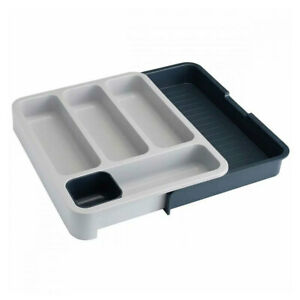 Joseph Joseph DrawerStore Expandable Cutlery/Utensil Tray/Holder Storage Grey