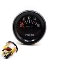 """2"""" 52mm Car Mechanical Volt Voltmeter Voltage Meter Gauge 8~16V Black Face 12V"""