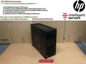 HP Z840 Workstation, Xeon 2x E5-2650 v3, 32GB DDR4, 2x 512GB SSD, Quadro K4200
