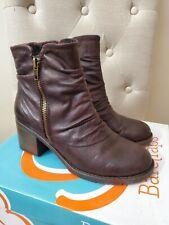 BareTraps brown low-heel booties