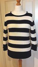Papaya Weekend Blue/ Cream Striped Cotton Jumper Size 12