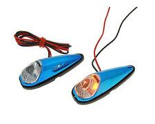 Scooter Moped Custom LED Mini Indicator Light Set - Blue