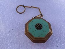 VINTAGE RICHARD HUDNUT ROUGE AND POWDER COMPACT OCTAGON SHAPE WITH FINGER RING