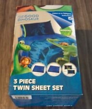 Walt Disney THE GOOD DINOSAUR TWIN SIZE SHEET SET w/ PILLOW CASE BRAND NEW