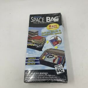 New Sealed Travel Space Bag Roll-up Storage Products 8 Bag Value Pack