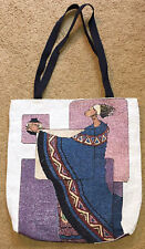 "African Dimensions ~ African American Woman Holding Pot 17"" Tapestry Tote Bag"