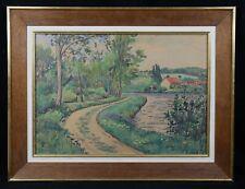 Jean Louis VERRIER (1915-2001) Paysage Nivernais aquarelle 1948 Nevers Marcy
