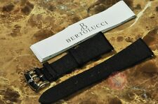 "Bertolucci Black Watch Strap 18mm with Lady Size 7 "" Original Buckle OEM"