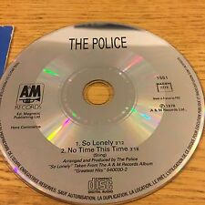 Sting The Police So Lonely 1992 Master Rare French Promo CD Single 15th Birthday