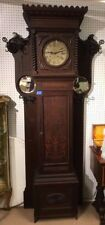Magnificent Oak Grandfather Clock/Hall Tree