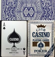 ARRCO Club Casino No.88 Used 52/52 Gamblers Poker Playing Cards Worn Box