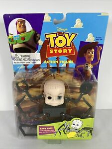 RARE Disney Pixar Toy Story Baby Face Action Figure Thinkway Sid Babyface Spider