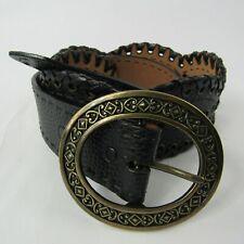 Brighton Sara Toga Womens Black Leather Belt Size 32 Textured B30913