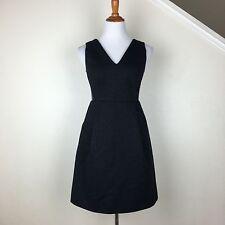 Madewell E1516 $148 Leather Insets Pointe Dress Sleek Party Mini Dress Black 2