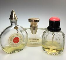 Fragrance Lot Used Set Of 3 Shalimar BVLGARI Yves Saint Laurent Paris