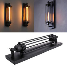 Vintage Industrial Metal Wall Lamp Sconce Light Fixture Flute Wall Black