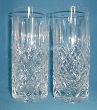 Pair of Stuart Crystal Shaftebury Highball Water Tumblers