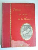 Cuatro Femmes A Temps de La Révolution Grd Folio Mme Lenormant Lib. Nat