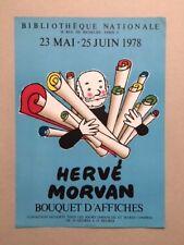 Exposition Hervé Morvan, Bibliothèque Nationale, 1978, Affiche, poster
