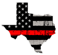 Texas State (C2) Thin Red Line Vinyl Decal Sticker Car/Truck Laptop/Netbook