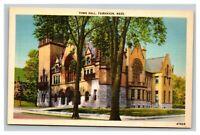 Vintage 1940's Postcard Town Hall Building Fairhaven Massachusetts