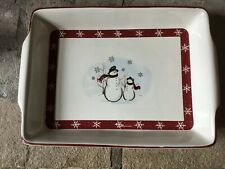 "Royal Seasons Snowman Christmas Casserole Baking Dish  9"" X 13"""