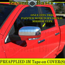 For 2009-2012 DODGE RAM 1500 Chrome Mirror Covers Overlay Painted Mirrorw/Signal
