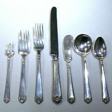 Watson George II Rex 7-Piece Setting Silverware Service for 12 w/ Serving Pieces