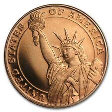 2 x 1/4 oz di rame Statue of Liberty monete/ROUND-GOLDEN STATE Nuovo di zecca