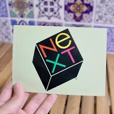 Rare Vintage NeXT Cube Computer Logo Sticker Apple Macintosh