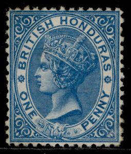 BRITISH HONDURAS QV SG12, 1d blue, UNUSED. Cat £95.