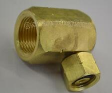 "LPG GAS ADAPTER 3/8"" FEMALE TO POL FEMALE 90° ANGLE HEAVY DUTY BRASS ADAPTOR NEW"