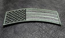 USA FLAG ROCKER TAB TACTICAL MORALE ARMY MILITARY ACU ROCKER HOOK  PATCH