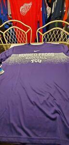 TCU Horned Frogs Baseball NCAA Nike  Dri-fit  shirt XXL purple