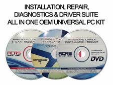 DIAGNOSTICS,DRIVERS,REIINSTALL FOR WINDOWS 7 - 3 disc kit to fix all issues
