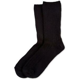 Hue Women's Black Cozy Super Soft Ribbed Ankle Socks 1 Pair One Size