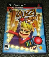 BUZZ THE MEGA QUIZ - PS2 - COMPLETE WITH MANUAL - FREE S/H - (QQ)
